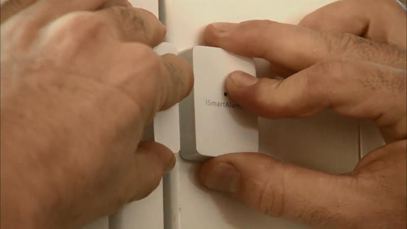 Sposób montażu czujnika Contact Sensor iSmartAlarm