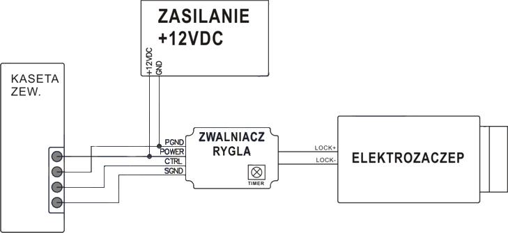 Domofon bezprzewodowy ORNO - OR-DOM-CL-910-W -schemat podłączenia