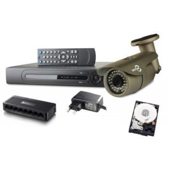 Zestaw IP139 4 x kamera tuba IP, rejestrator IP, dysk WD, switch