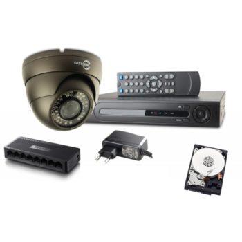 Zestaw IP140 4 x kamera kopułka IP, rejestrator IP, dysk WD, switch