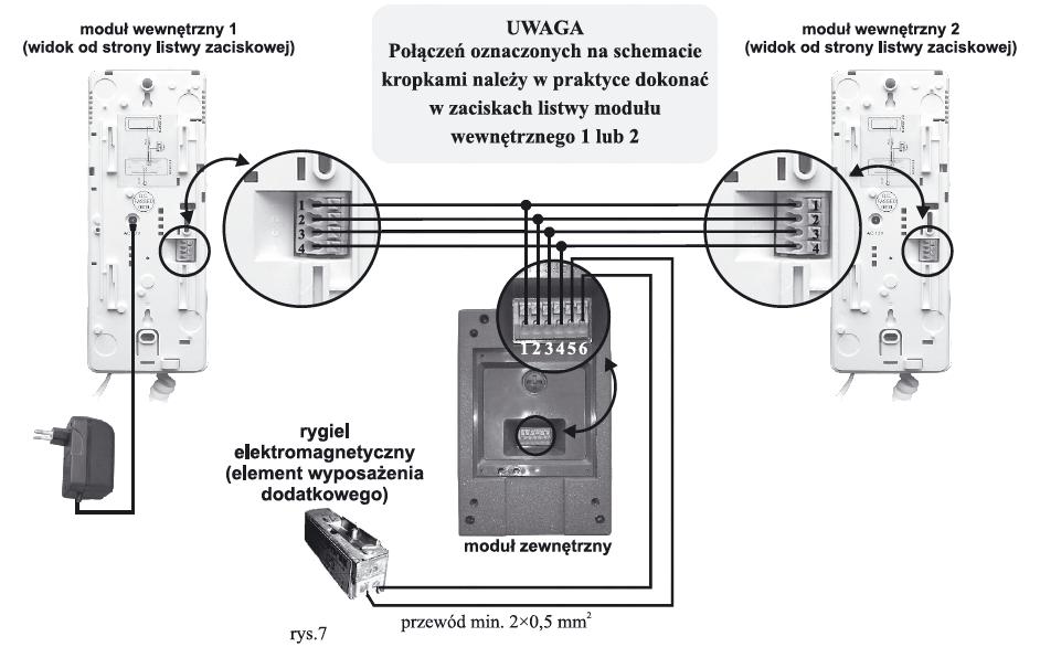 DOMOFON EURA DP48A3 schemat