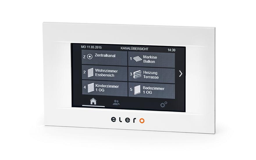 Panel sterowania dotykowego MulitTec Touch Elero w kolorze białym