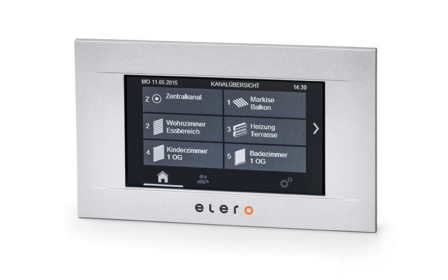 Panel sterowania dotykowego MulitTec Touch Elero w kolorze srebrnym