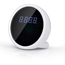 Mini kamera IP w stołowym zegarze cyfrowym z budzikiem