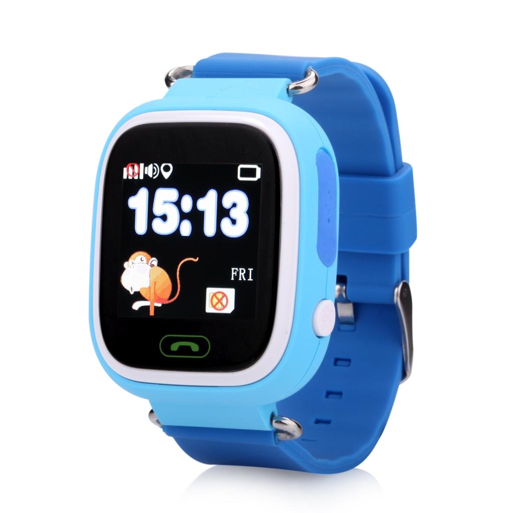 Smartwatch Q90/GW100 z GPS dla dzieci - niebieski