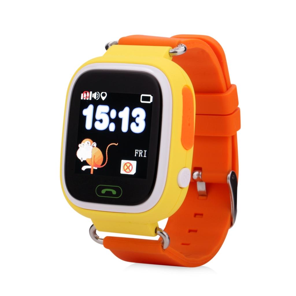 Smartwatch Q90/GW100 z GPS dla dzieci - żółty