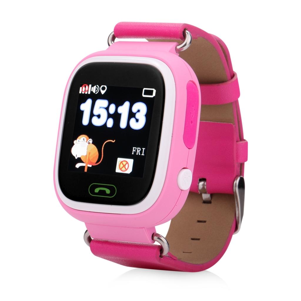 Smartwatch Q90/GW100 z GPS dla dzieci - różowy