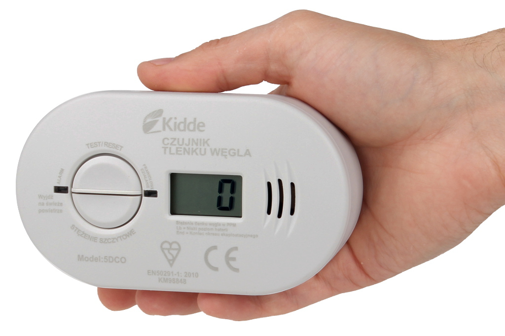 Czujnik tlenku węgla KIDDE z wyświetlaczem LCD wielkość