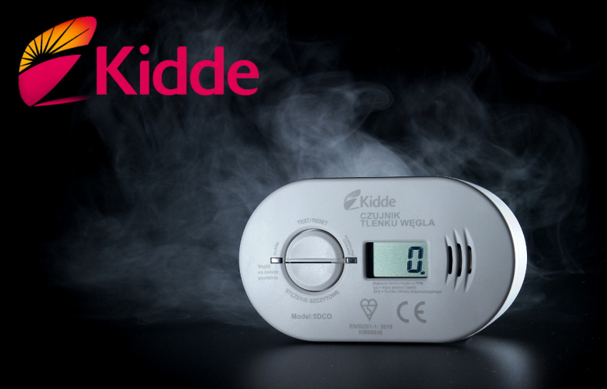 Czujnik tlenku węgla KIDDE z wyświetlaczem LCD