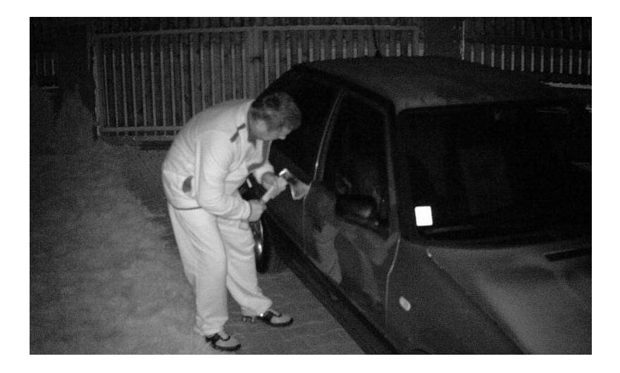 Test fotopułapki Spromise - monitoring mienia