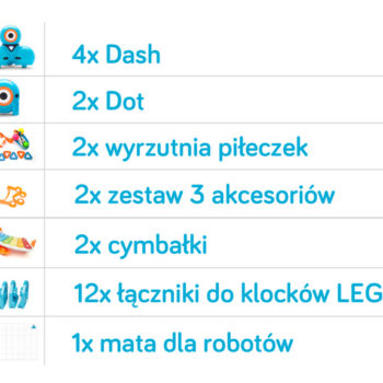 skład PAKIETU ROBOTÓW NA START