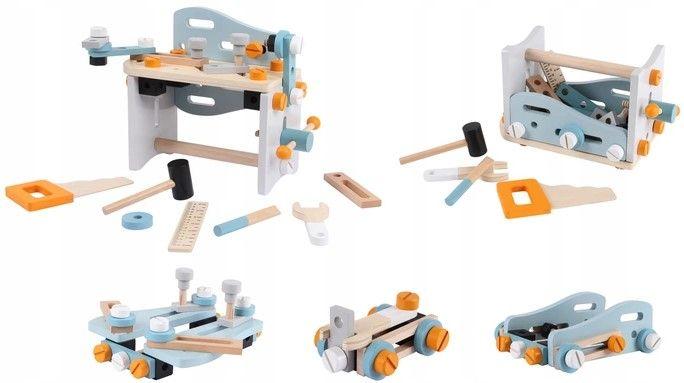 Drewniane konstrukcje z zestawu narzędziowego