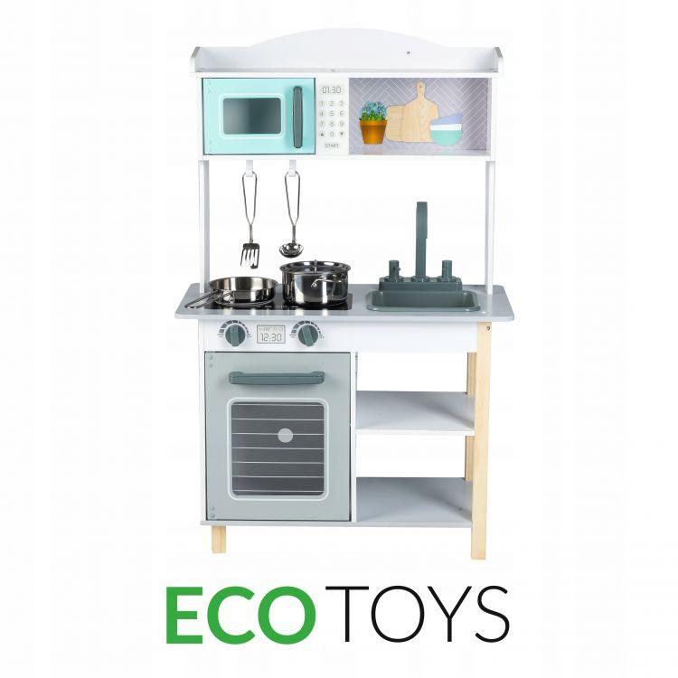 Drewniana Kuchnia Dla Dzieci Z Wyposażeniem 7256a