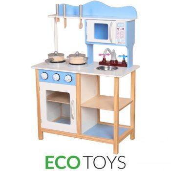 Drewniana kuchnia / kuchenka z wyposażeniem Ecotoys
