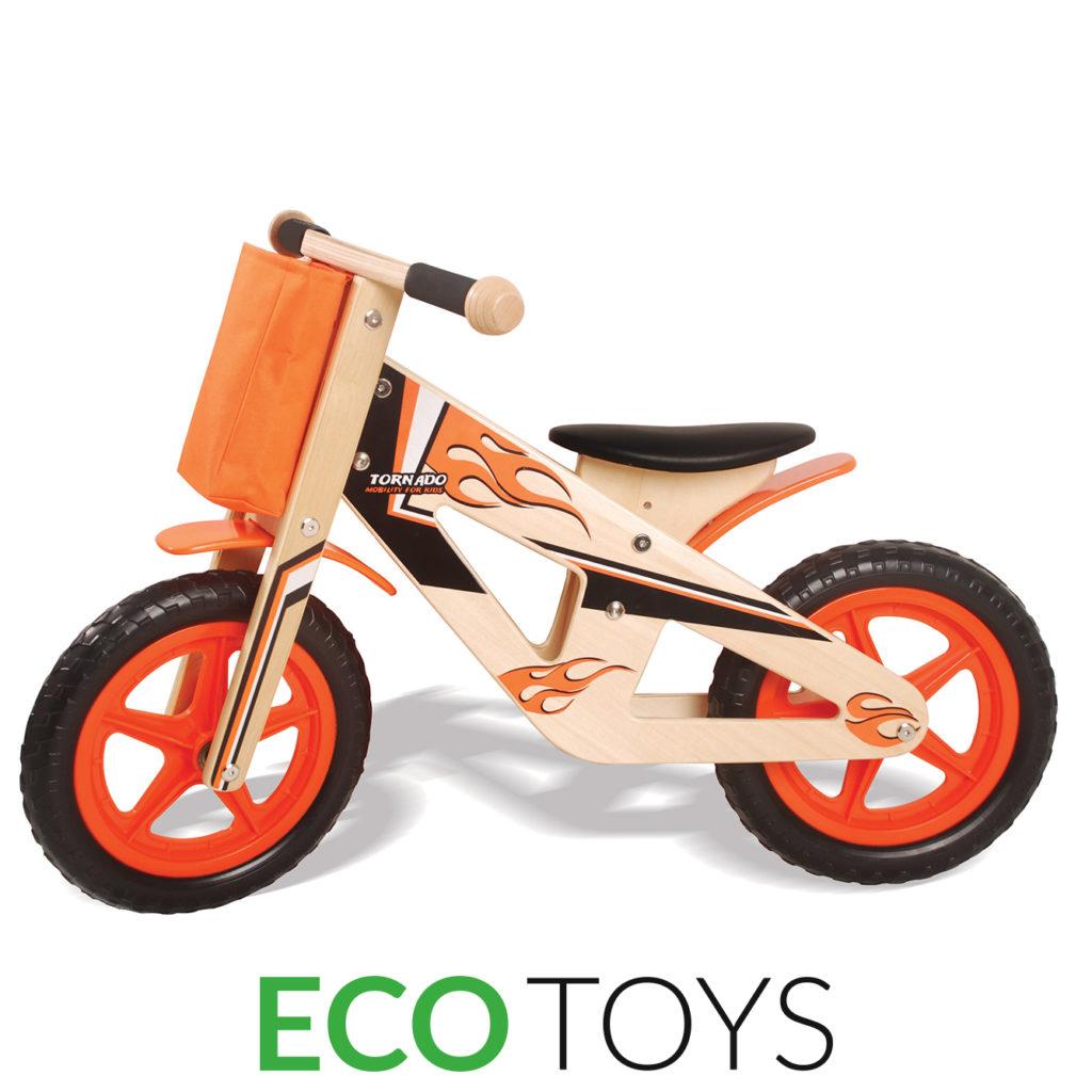Drewniany rowerek biegowy marki ECOTOYS 5012