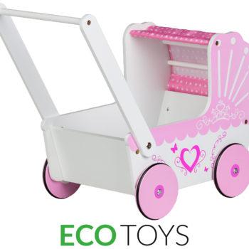 Drewniany wózek dla lalek TT003 Ecotoys