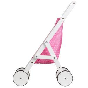 Dziewczęca kolorystyka w serduszka wózka z ECOTOYS WDF010