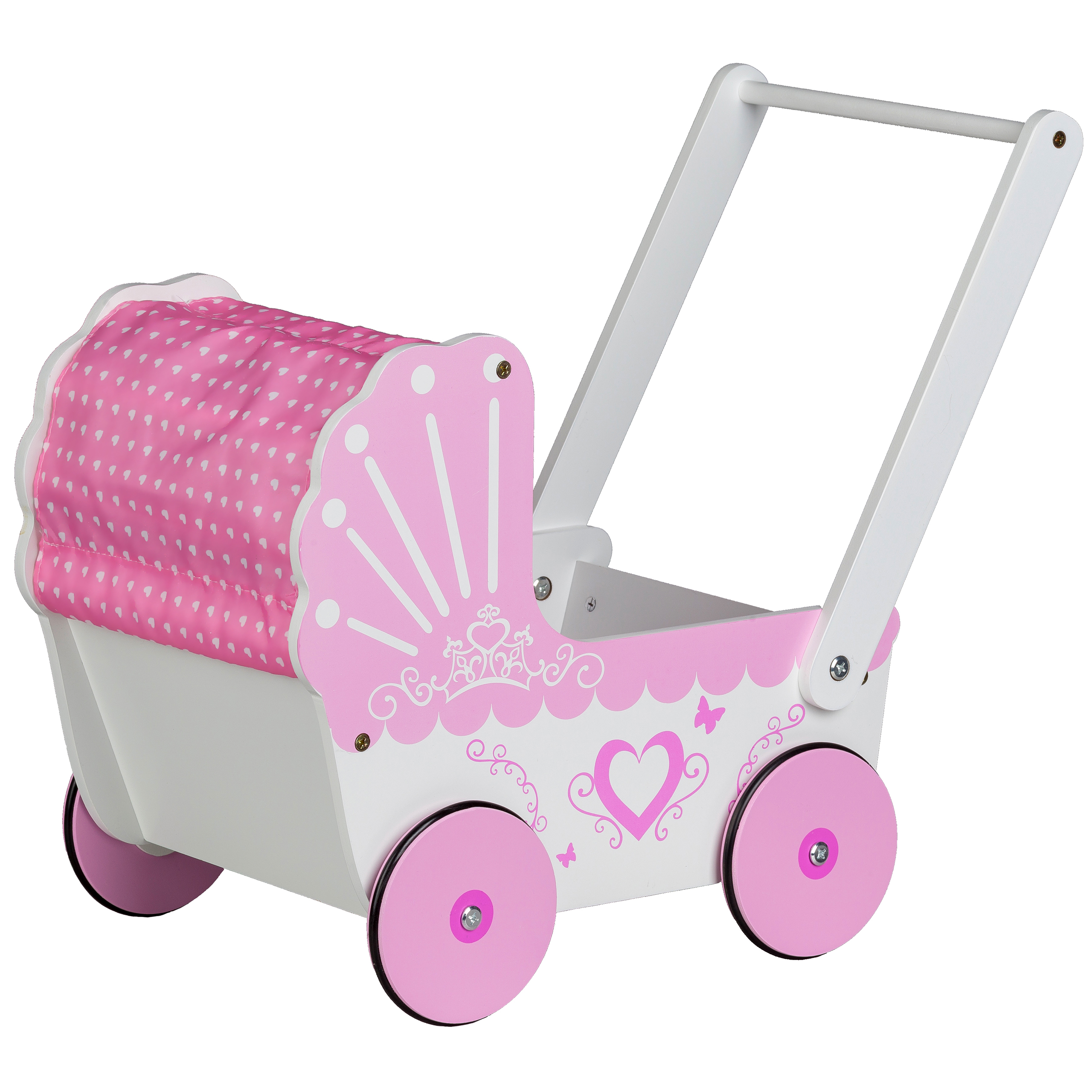 Dziewczęca kolorystyka wózek / pchacz Ecotoys TT003