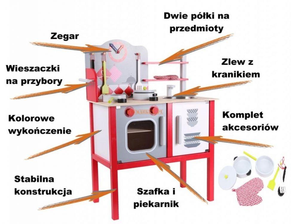 Elementy składowe kuchni drewnianej dla dzieci ZA-4201