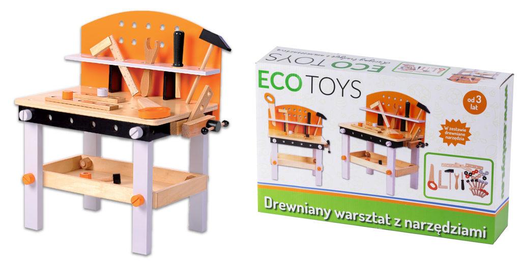 Informacje o opakowaniu drewnianego warsztatu ECOTOYS 1176