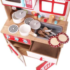 Kuchnia dla małych szefów kuchni z wyposażeniem ECOTOYS 4253