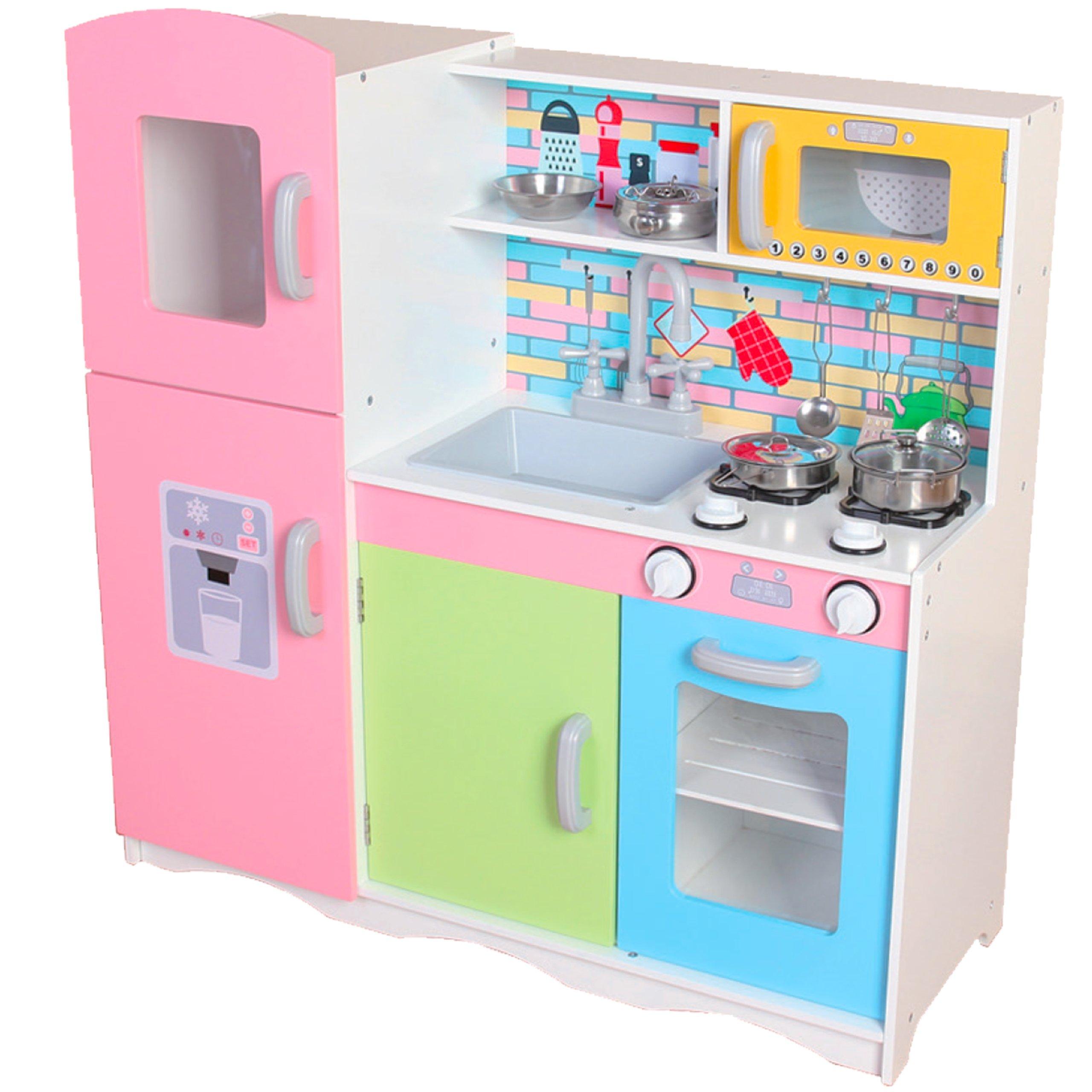 Drewniana Kuchnia Dla Dzieci Z Wyposażeniem Tk038