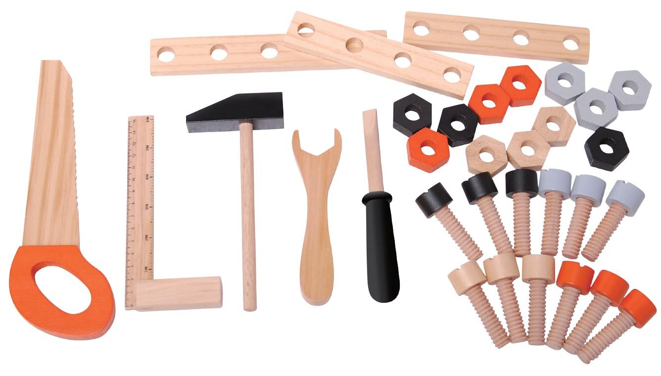 Narzędzia do drewnianego warsztatu 32 elementy ECOTOYS 1176