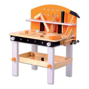 Prawdziwy drewniany warsztat 32 elementy ECOTOYS 1176