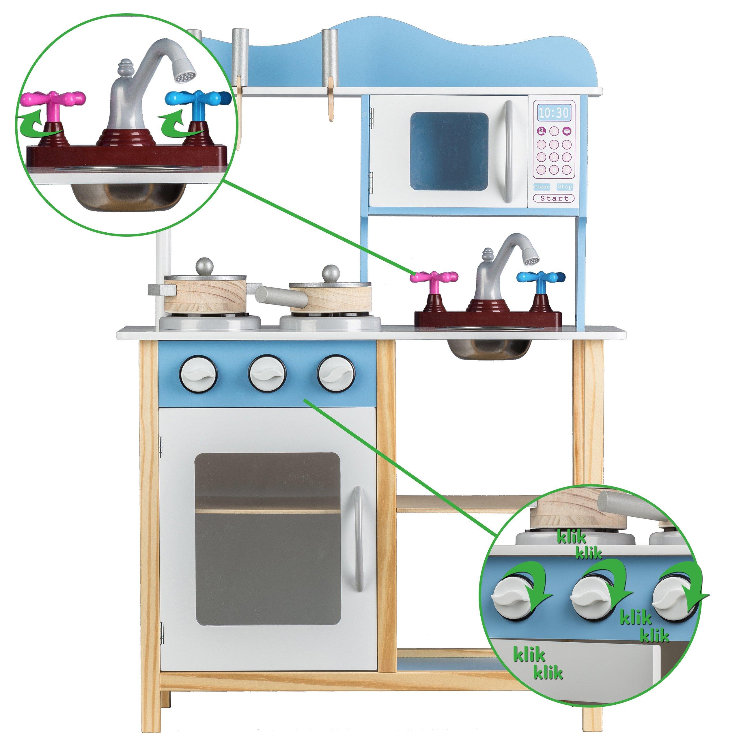 Drewniana Kuchnia Dla Dzieci Z Wyposazeniem Tk040 Kuchnie