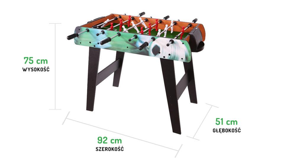 Wymiary drewnianego stołu EURO piłkarzyki ECOTOYS HM-S36-080C