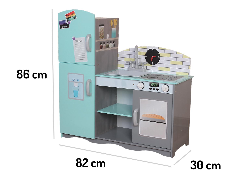 Wymiary drewnianej kuchni ECOTOYS TK024