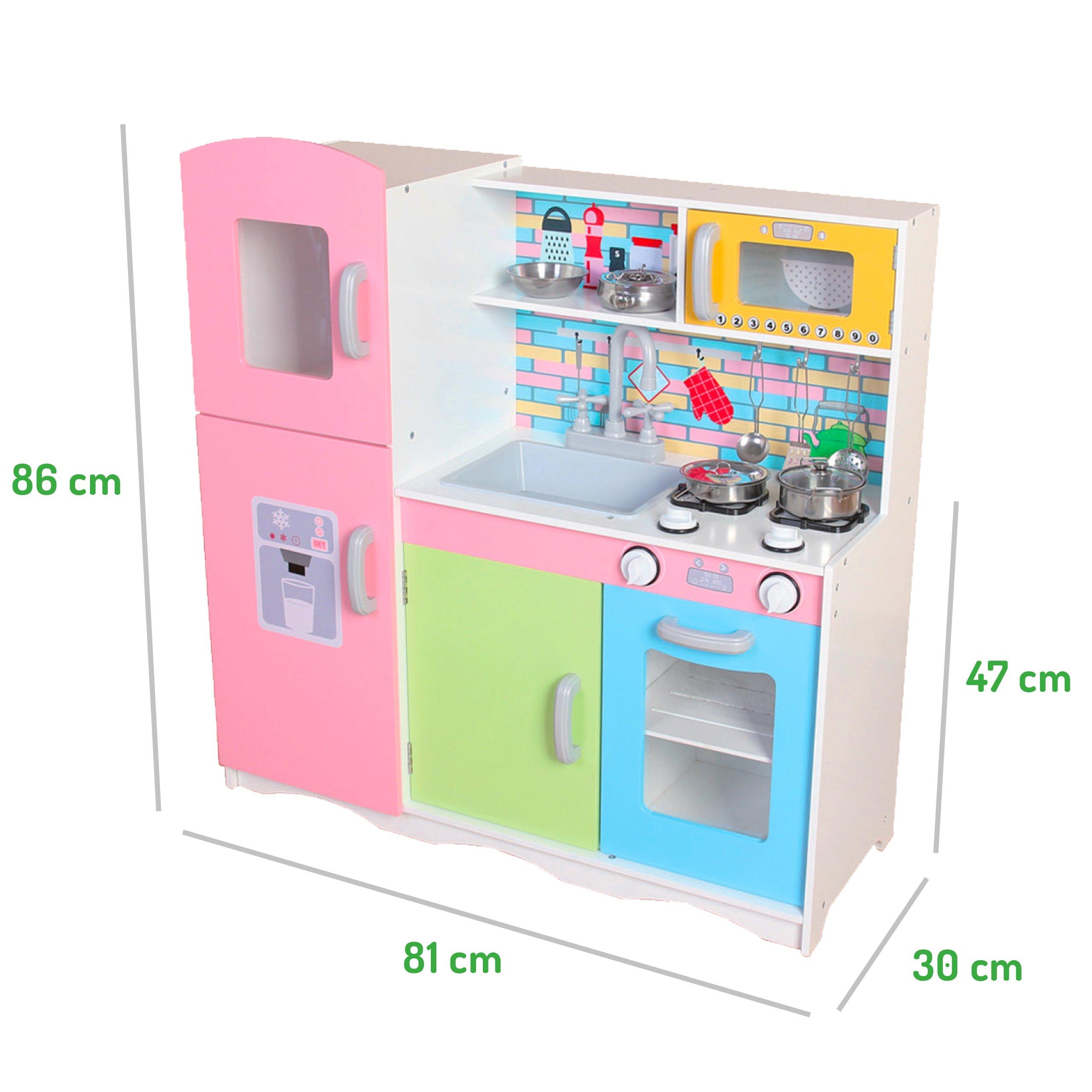 Ecotoys Drewniana Kuchnia Dla Dzieci Z Wyposażeniem