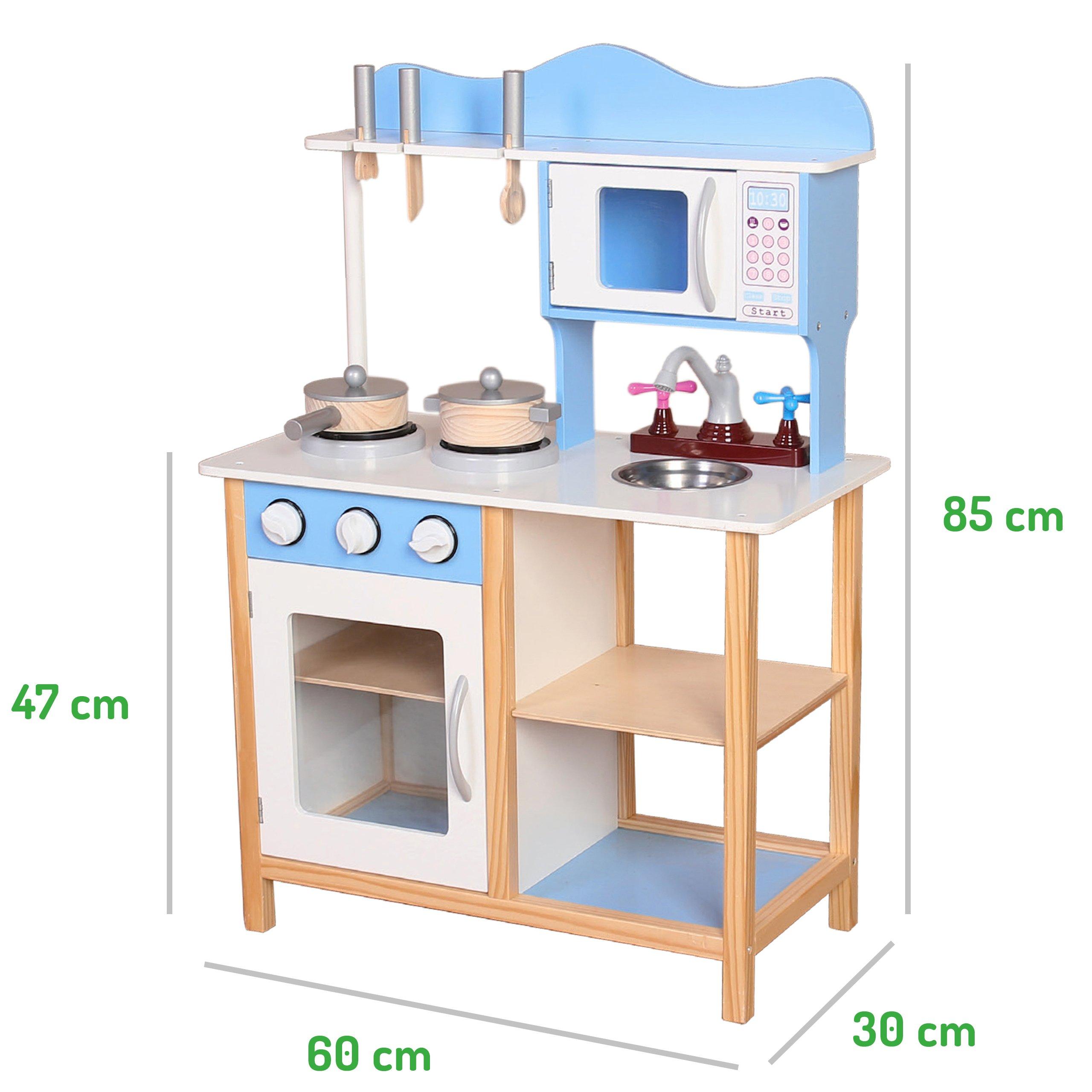 Ecotoys Drewniana Kuchnia Dla Dzieci Z Wyposażeniem Tk040