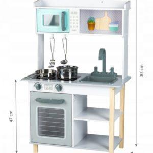 Wymiary kuchni drewnianej Ecotoys 7256A
