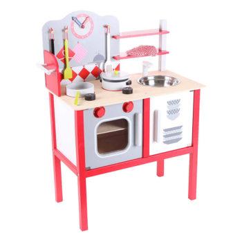 Zabawka kuchnia wykonana z najlepszych gatunków drewna ECOTOYS ZA-4201