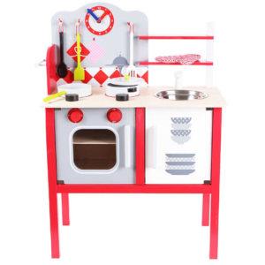 Zdjęcie kuchni drewnianej z akcesoriami ECOTOYS ZA-4201