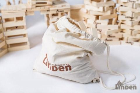 Zestaw 200 drewnianych klocków w eko worku