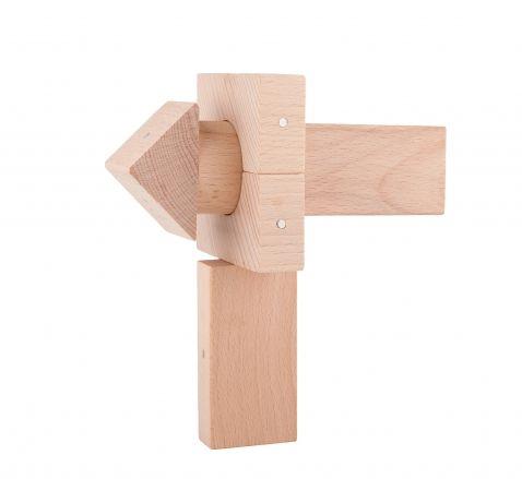 Drewniane konstrukcje - jednokolorowe klocki drewniane z magnesami Kooglo natural