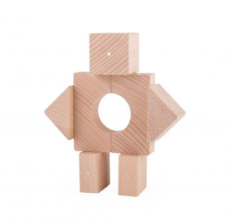 Drewniane konstrukcje klocki Kooglo natural