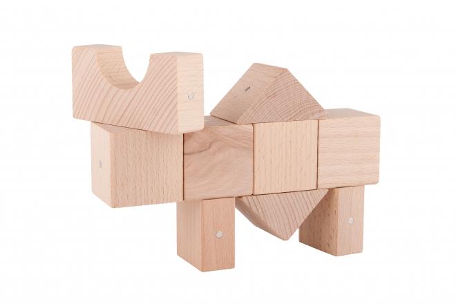 Finezyjne konstrukcje z drewnianych klocków Kooglo