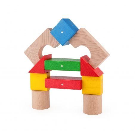 Konstrukcje drewniane - klocki z magnesami Kooglo