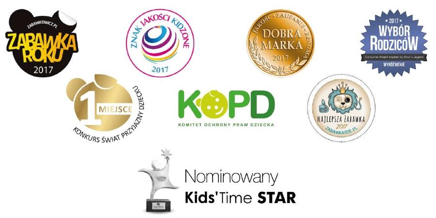 Nagrody przyznane drewnianym klockom Kooglo