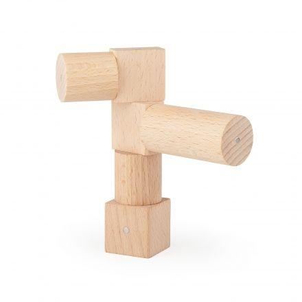 Niebanalne budowle z drewnianych klocków Kooglo Basic Natural