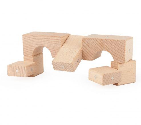 Niesamowite konstrukcje drewniane klocki Kooglo neutral basic