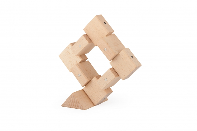 Przestrzenne konstrukcje wykonane z drewnianych klocków magnetycznych Kooglo