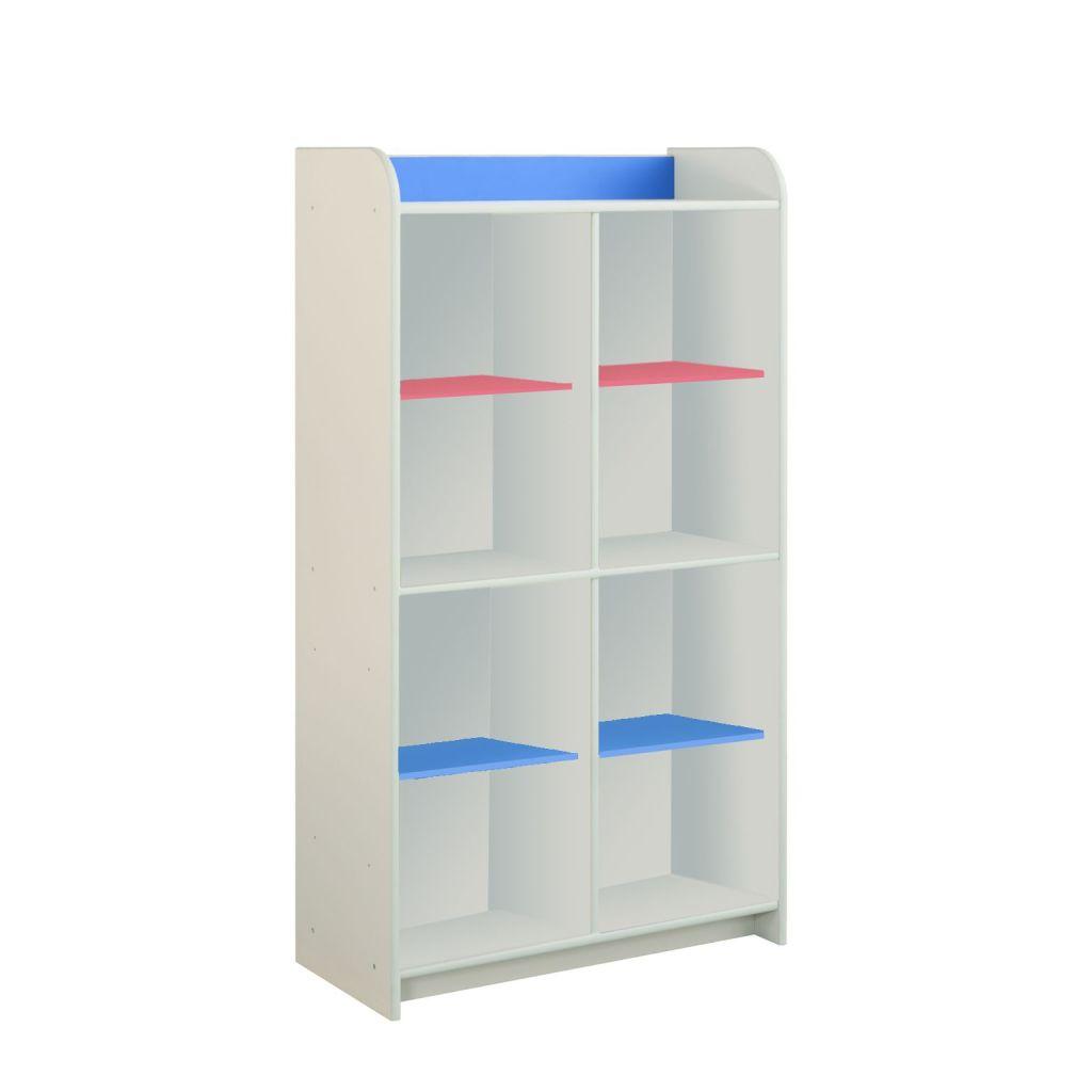 Regał z różowo-niebieskimi półkami Dioralino R4S00-C2