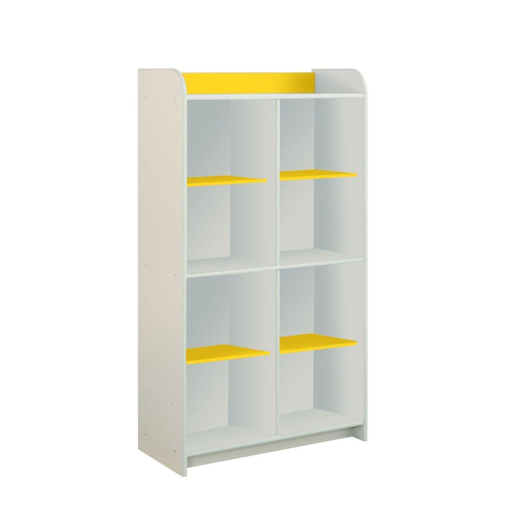 Regał z żółtymi półkami Dioralino R4S00-Y