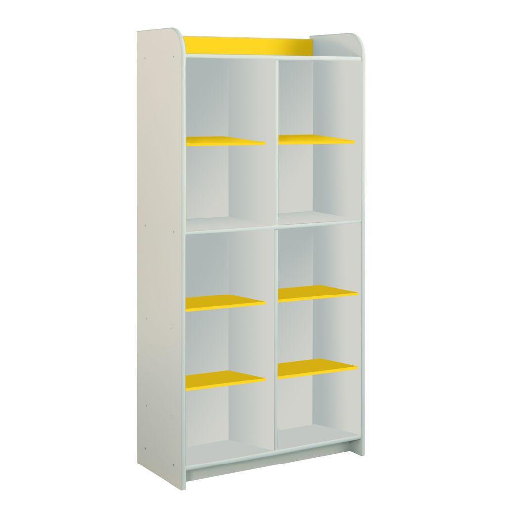 Żółty regał z półkami Dioralino R5S00-Y
