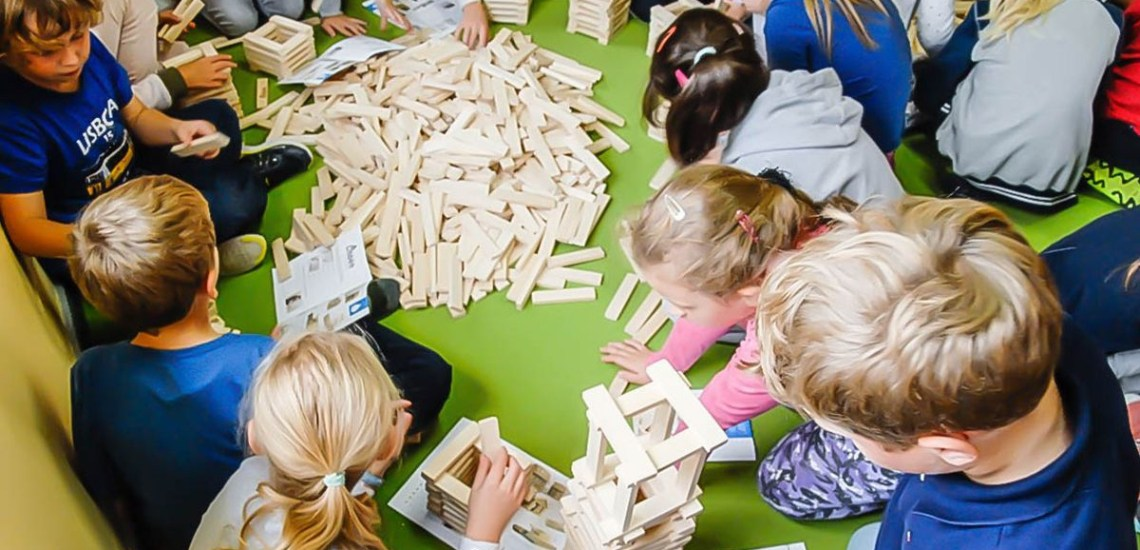 Konstrukcyjne klocki Linden dla szkół i przedszkoli