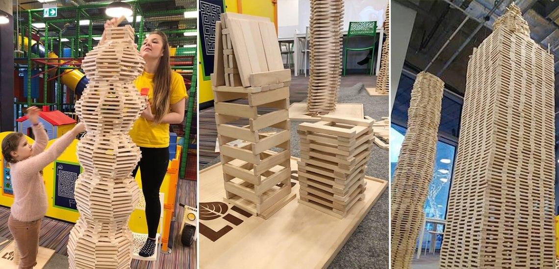 Konstrukcje z drewnianych klocków Linden